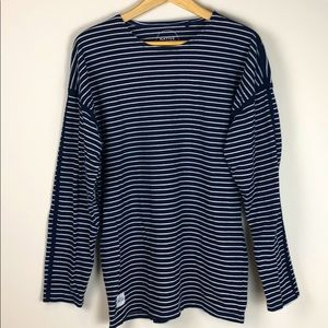 Native Youth Blue and White Stripe Long Sleeve Tee